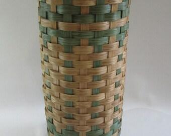 Toilet Paper Basket with Lid-Bathroom Tissue Basket- Handwoven Basket-Tall Basket