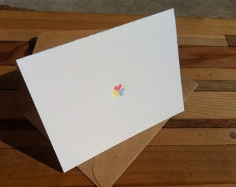 Letter Press Card - Small Hearts 2