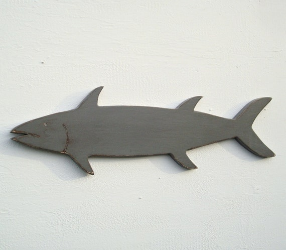 Wall Art Wood Fish : Wood fish art nautical wall