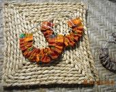 Kente  Fabric Hoop Earrings- 2 sizes