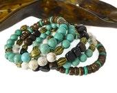 Turquoise Bracelet, Stack Bracelet, Stacking Bracelet,  Boho, Turquoise Magnesite,