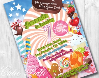 Katy Perry Inspired Invitations, Printable Invitations by Cutie Putti Paperie