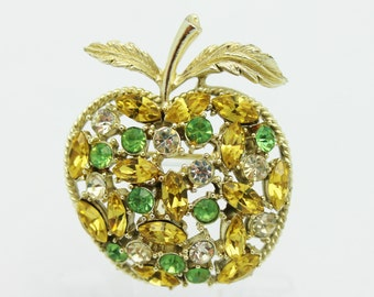 Coro Green Apple Vintage Brooch