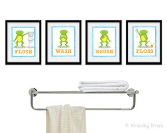 Popular items for frog bathroom on Etsy