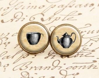 Victorian Teatime - Stud Earrings