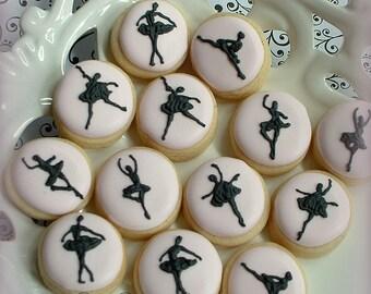 Ballet mini cookies - 2 dozen - mini dancer cookies