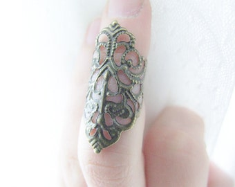 Armor Ring - Above Knuckle Filigree Knuckle Ring Midi Ring