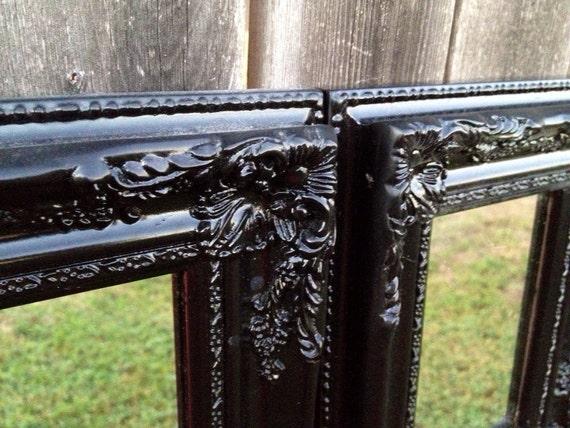 barocke spiegel schwarzen rahmen verzieren von frameitbyjill. Black Bedroom Furniture Sets. Home Design Ideas
