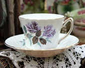 Kendall Bone China Teacup Tea Cup and Saucer 11363