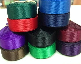 "3/8"" x 50 yard Double Face Satin Assortment 5 yards of each 10 colors. ""Assortment #3"""