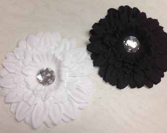 "4"" Gerber Daisy Flower. Choose Your Color Black or White"
