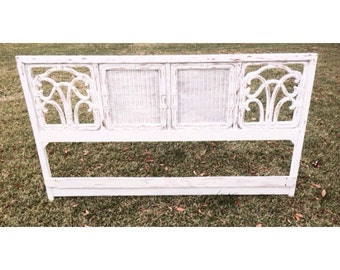 Shabby Chic Fruitwood King Headboard