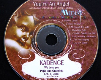 Personalized Lullaby CD - You're An Angel - Lullaby Songs With Your Child's Name - Perfect Baby Shower Gift for Newborns