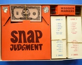 "1968 ""Snap Judgement"" Board game by Milton Bradley"