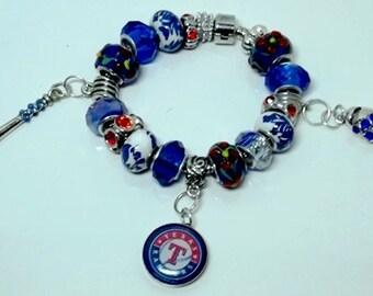 Texas Rangers European Style Bracelet - REDUCED PRICE