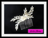 Bridal hair accessory, wedding hair comb, bridal headpiece, grecian hairpiece, pearl hair comb, wedding hair accessory