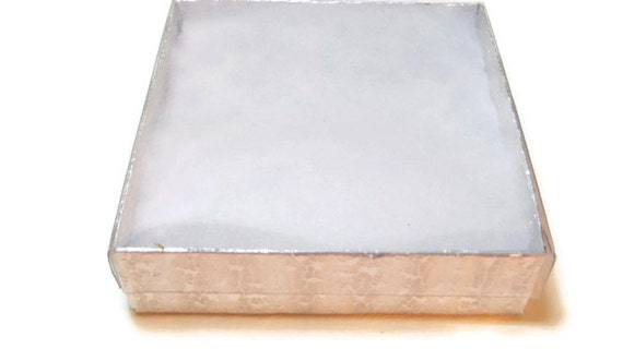 Items similar to silver cardboard gift box with clear lid for Small cardboard jewelry boxes with lids