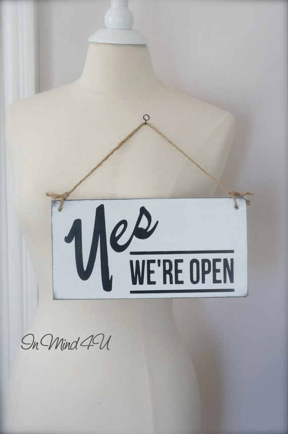 business sign open  closed sign custom sign wall art wood