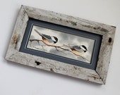 2 Chickadee Lovers on a Winter Branch Painting