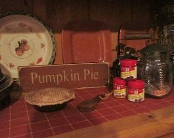 Primitive pumpkin pie sign