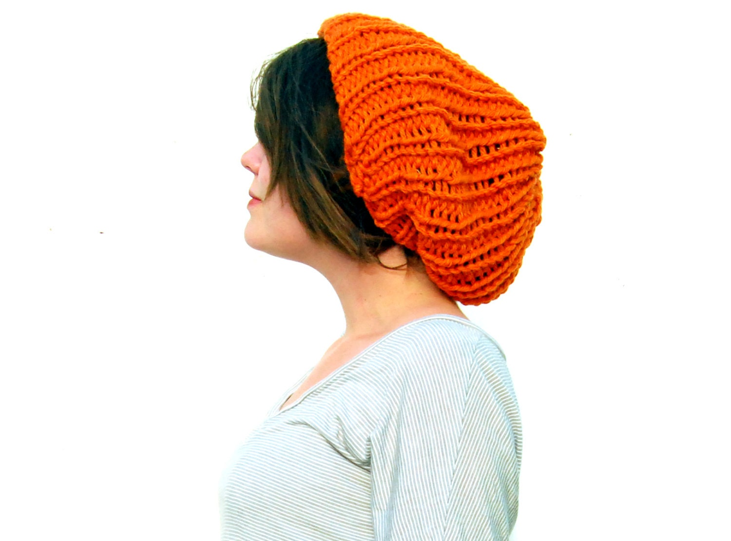 PDF Knitting PATTERN Ribbed Slouch Hat