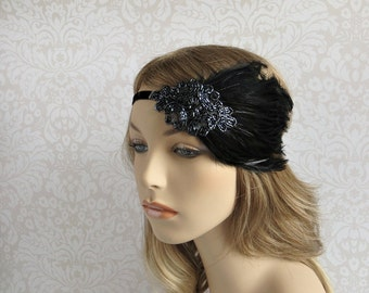 Great Gatsby Headpiece for Gatsby Dress, 1920s Hair Accessories, Headband Flapper Costume