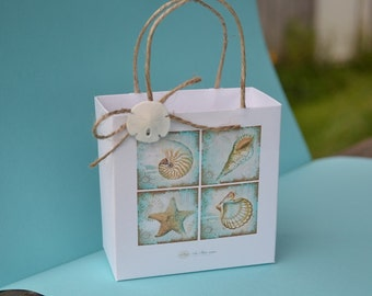 Elegant Nautical party favor boxes/bags for your wedding party