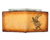 Custom Leather Wallet - Credit Card Wallet - Mens Wallet - Rabbit