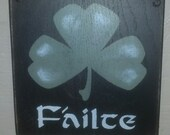 "8""x8"" Shamrock Wall Accent - Failte"