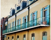 New Orleans, Louisiana, Little yellow houses, NOLA, 8x10 fine art print