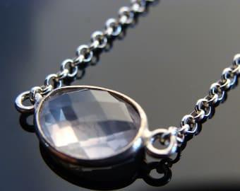 Rose Quartz 925 Sterling Silver Bracelet