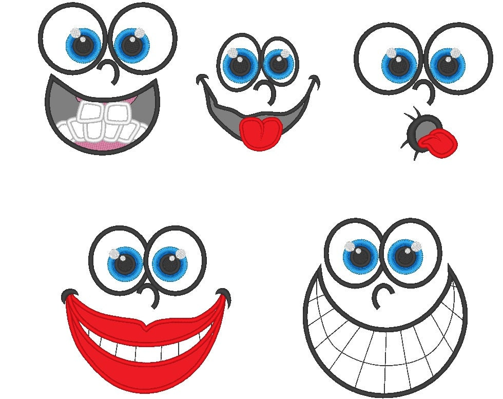 Funny toys faces machine embroidery designs types