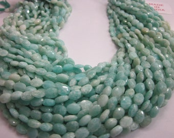Amazonite Oval shape Faceted beads 5-7 mm, 50 pieces  AAA quality