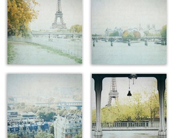 Paris Decor, Dreamy Paris Photography, Paris photo, Paris Print Set, Eiffel Tower Wall Art - Photography Set of 4 - Fine Art Photographs