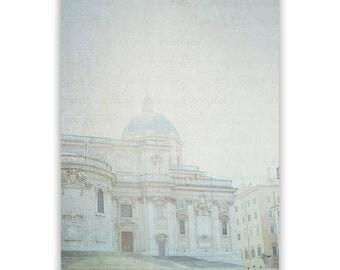 Rome Photography, cream, aqua decor, Rome home decor, Italy Wall Art, Rome photos, wall art, Italian landmarks - Fine Art Photograph