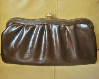 Vintage Brown Clutch Bag