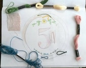 Custom order for Kelly. 1- 8 table number hoops and Mr & Mrs hoop