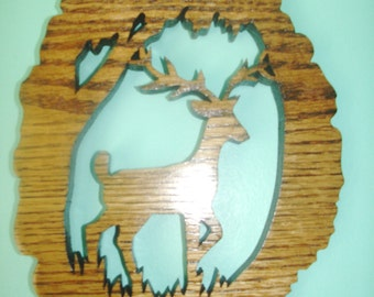 Deer wall hanging home or office decor