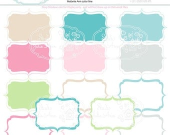 Digital Frames Labels Tags Embellishment Instant Download Printable Digital Scrapbooking