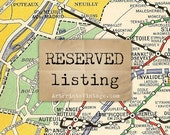 Reserved listing for Jennifer