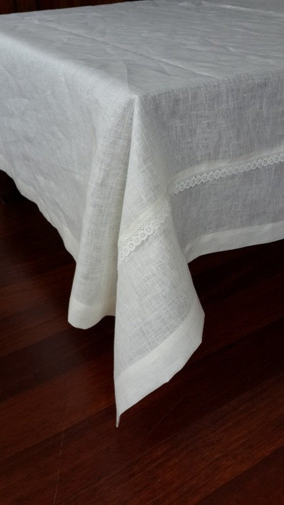 Custom tablecloth 80 by 120 inch large wide linen rectangle for Tablecloth 52 x 120