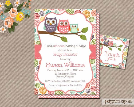 Owls Baby Shower Invitations as good invitations sample