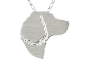 English Springer Spaniel necklace, English Springer Spaniel charm - Sterling Silver dog necklace, dog charm pet memorial gift