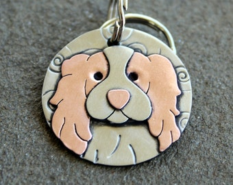 Dog Tag - Dog ID Tag - Pet Tag - Custom dog tag- Cavalier dog tag or key chain