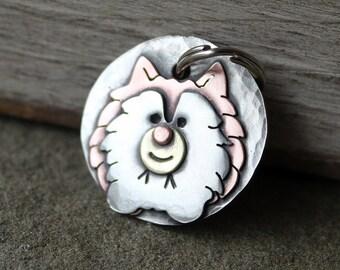Small Dog Tag - Dog ID Tag - Pet Tag - Pomeranian Dog Id tag