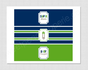 Diaper Pin Collection: Printable Water Bottle Wraps