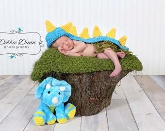 Crochet newborn baby Dino, newborn prop, photo prop, baby photo prop, baby shower gift, dinosaur prop