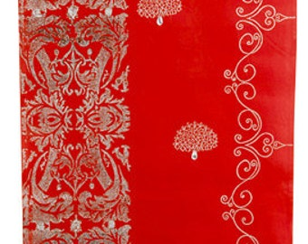 Decorative Wall Panel Red / Silver
