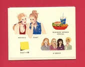 A ROMY & MICHELE Field Guide - Original Illustrations - Romy, Michele, A Group Girls, Business Woman Special, Post-it