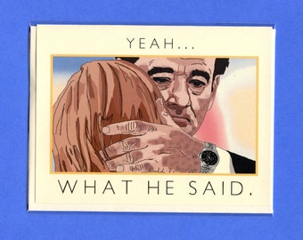 BILL MURRAY - Lost In Translation - I Love You Card - Funny Love Card - Bill Murray Card - Bill Murray - Scarlett Johansson - Item M114